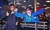 Flowrider and iFly - Downtown Ogden: Indoor-Skydiving Package with T-shirt and DVD for Two or Four from iFLY (Up to 53% Off)
