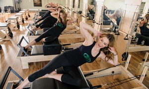 Beyond Pilates: Eight Pilates, Yoga, or Barre Classes or One Month of Unlimited Classes at Beyond Pilates Studio (Up to 76% Off)