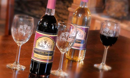 Wine Tasting with Souvenir Glasses and a Meat-and-Cheese Plate for 2 or 4 at Baltic Mill Winery (Up to 45% Off)