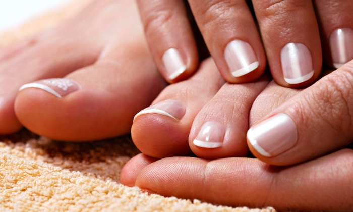 Lash Lounge - Rhodes Ranch: Organic Spa Manicure with Pedicure for One or Two at Lash Lounge (Up to 53% Off)
