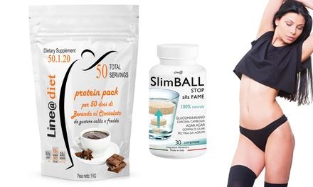 Frappè proteico per dieta dimagrante con sole 80 kcal per dose, più capsule SlimBall dimagranti