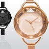 So and Co New York Women's Faceted Crystal Mesh Bracelet Watch