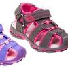 Rugged Bear Girls' Velcro Sport Sandal