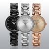 SO & CO New York Women's Crystal Studded Stainless Steel Watch