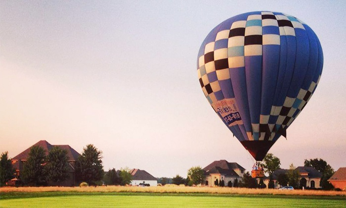 Midwest Balloon Rides - Downtown Fishers: $199 for a One-Hour Hot Air Balloon Ride from Midwest Balloon Rides ($299 Value)