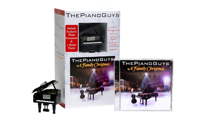the piano guys a family christmas cd with baby grand piano ornament