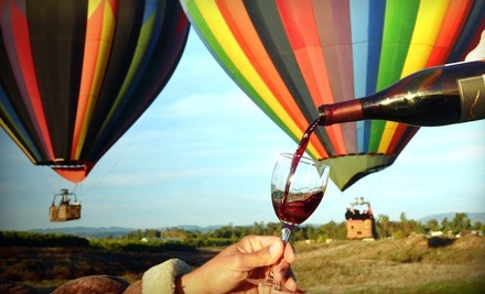Choice of Sunrise Hot Air Balloon Ride for 2 or Wine Tour for 2 on a Weekday (a $438 value) - Sunrise Balloons in Temecula