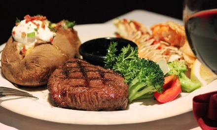 $50 Toward Dinner and Drinks at Bold Knight Steakhouse (Up to 42% Off). Two Options Available.