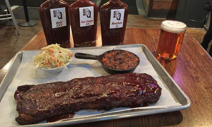 Bar-BQ - Bar B Q: Barbecue at Bar-BQ (Up to 50% Off). Two Options Available.