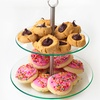 Two-Tier Round Glass Buffet and Dessert Stand