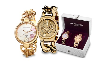 Akribos XXIV Women's Fashion Watch Sets