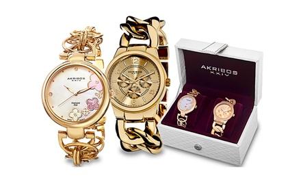 Akribos XXIV Women's Fashion Watch Sets