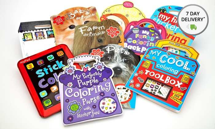 10-Book Ultimate Sticker and Coloring Collection: 10-Book Ultimate Sticker and Coloring Collection