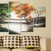 Gallery-Wrapped and Hand-Painted Multipanel Oil Paintings on Canvas