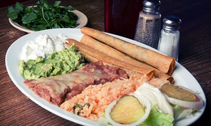 Saguaro's Mexican Food - North Park,Brooklyn Heights,Palm Breeze Villas: $9 for Two Combination Plates and Two Large Drinks at Saguaro's Mexican Food ($19.50 Value)