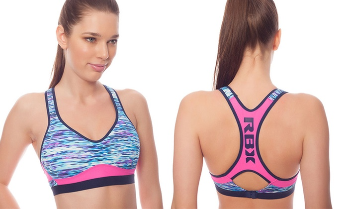 RBX Women's Molded Cup Racerback Sports Bra (Size Medium) | Groupon