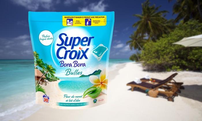 30 à 480 capsules Super Croix Bora Bora lessive + adoucissant dès 690 € (jusquà 78% de rduction)