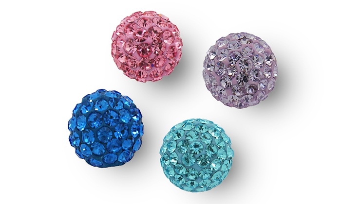 12mm Crystal Ball Studs: 12mm Crystal Ball Studs. Multiple Colors Available. Free Returns.