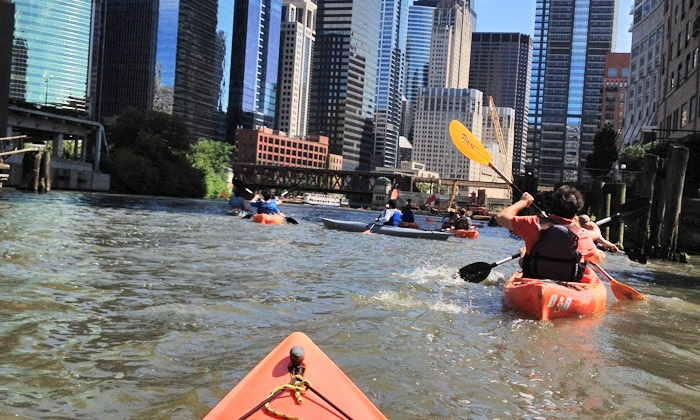 Wateriders - Riverwalk: Kayak Tours and Workouts, or Kayak Tour for Two or Four from Wateriders (Up to 50% Off)