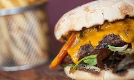 One Burger with a Side at Cave Mountain Brewing Co. (50% Off)