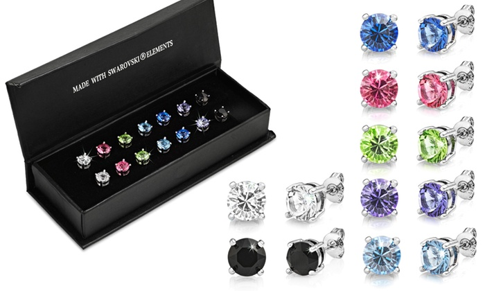 6mm Round Stud Earrings