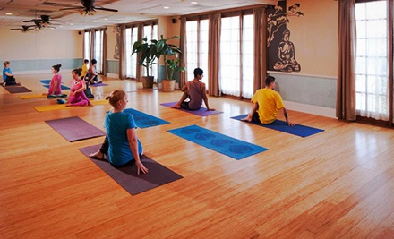 One Month of Unlimited Yoga Classes or 10 Classes at Spa Lamar (Up to 70% Off)