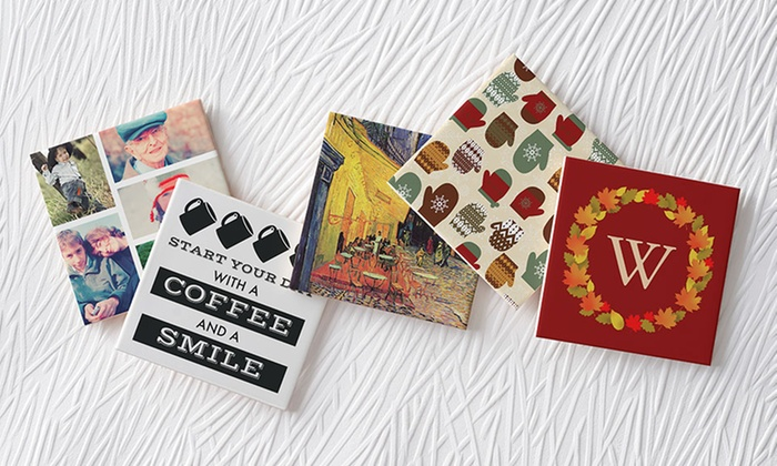 """Zazzle: 2, 6, or 10 Small 4.25""""x4.25"""" Custom Ceramic Tiles, Plus Free Shipping, from $12.99–$35.99 from Zazzle"""