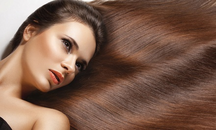 Haircut with Options for Partial or Full Highlights or All-Over Color at Victoria London Salon (Up to 77% Off)