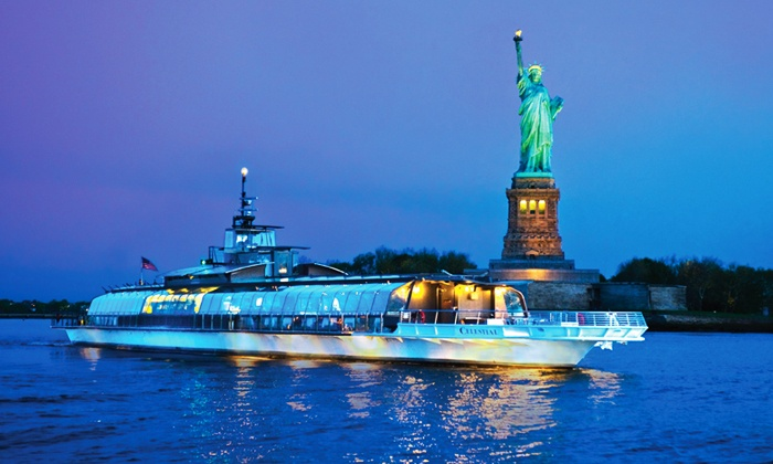 "Entertainment Cruises - Bateaux of New York: Three-Hour Dinner Cruise on the ""Bateaux of New York"" (Up to 43% Off). Three Options Available."
