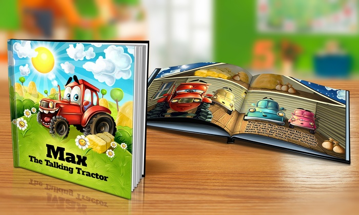 "Dinkleboo: $9 or $14 for ""The Talking Tractor"" Personalized Softcover or Hardcover Children's Book from Dinkleboo (Up to 65% Off)"