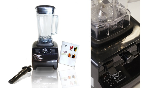 $89 Kitchen Chef 1300W Commercial-Grade Blender with Jug and Smoothie Recipe Book (Don't Pay ...