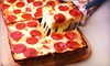 Jet's Pizza - Arlington Heights: $14 for One Four-Topping, Eight-Corner Pizza with a Large Order of Jet's Bread at Jet's Pizza ($27.94 Value)