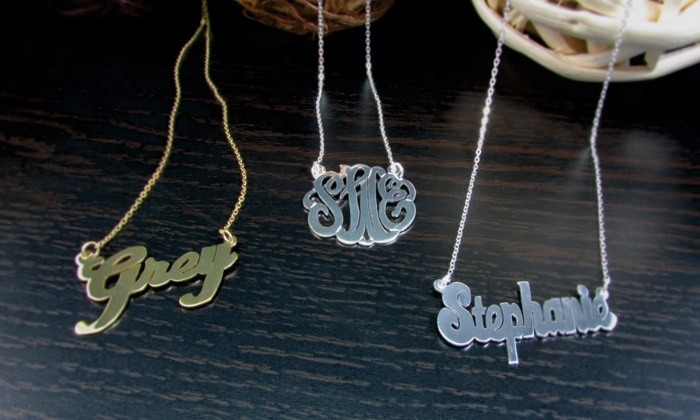 NameJewelrySpot: Gold-Plated Custom Necklaces from NameJewelrySpot.com (Up to 73% Off)