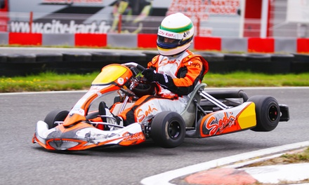 3 sessions de karting de 10 min chacune pour 1 personne à 22,90 € à City Kart de St-Sébastien et Sautron