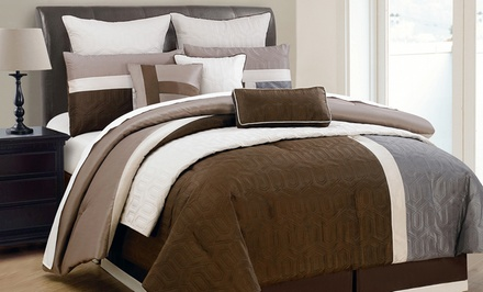 Damien 10-Piece Comforter and Quilt Set