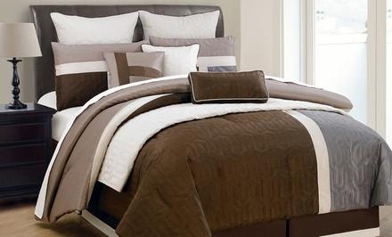 Damien 10-Piece Comforter and Quilt Set