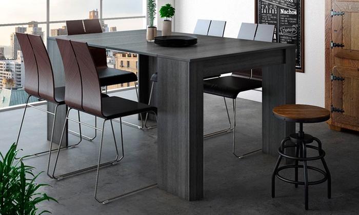 jusqu 39 82 console extensible groupon. Black Bedroom Furniture Sets. Home Design Ideas