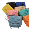 Straw Cross-Body Bags with Flower Design