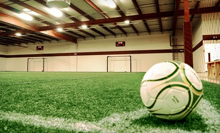 Soccer or Dodgeball at Birthday Party, or Five or Ten Open Play Sessions at Kick-em Training Facility (Up to 52% Off)