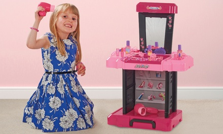 Kids' Vanity Suitcase with Trolley