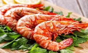 Trattoria Mediterraneo: Menu gourmet di pesce con bottiglia di vino (sconto fino a 67%)