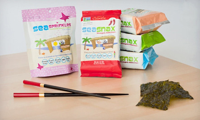SeaSnax All-Natural Seaweed Snacks: Regular or Supersized SeaSnax Gluten-Free Vegan Seaweed-Snack Bundle (Up to 53% Off)