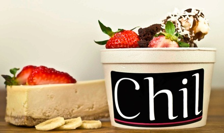 $15 for Three Vouchers for Organic Frozen Yogurt at Chil Frozen Yogurt Bar ($30 Value)