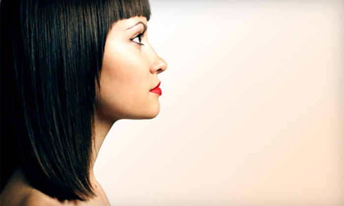 Mi Hair Lounge - Mid Wilshire: Keratin Treatment with Optional Cut and Style at Mi Hair Lounge (Up to 51% Off)