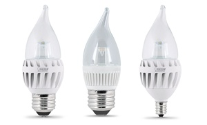 Feit Light Bulbs Review: FEIT Chandelier LED Light Bulbs (6- or 8-Pack),Lighting