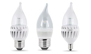 FEIT Chandelier LED Light Bulbs (10-Pack)