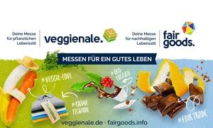 ECOVENTA GmbH: Tagesticket zum Spezial-Preis für die Veggienale & FairGoods im Frühjahr in Hannover, Münster, Nürnberg und Köln.
