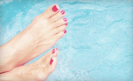 Two No-Chip Manicures or Pedicures at The Pink Nail & Spa (Up to 51% Off)