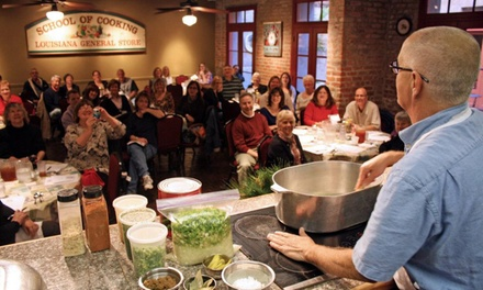 $12 for New Orleans Cooking Class at The New Orleans School of Cooking ($24 Value)