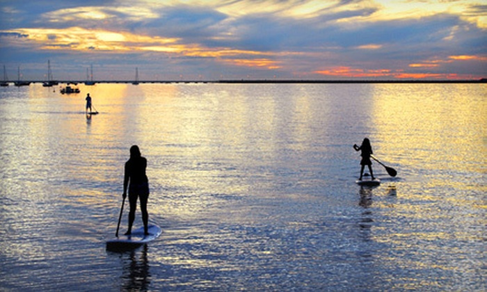 Meltdown Board Shop - Multiple Locations: Stand-Up Paddleboard Outing and Lesson for One, Two, or Four from Meltdown Board Shop (Up to 84% Off)